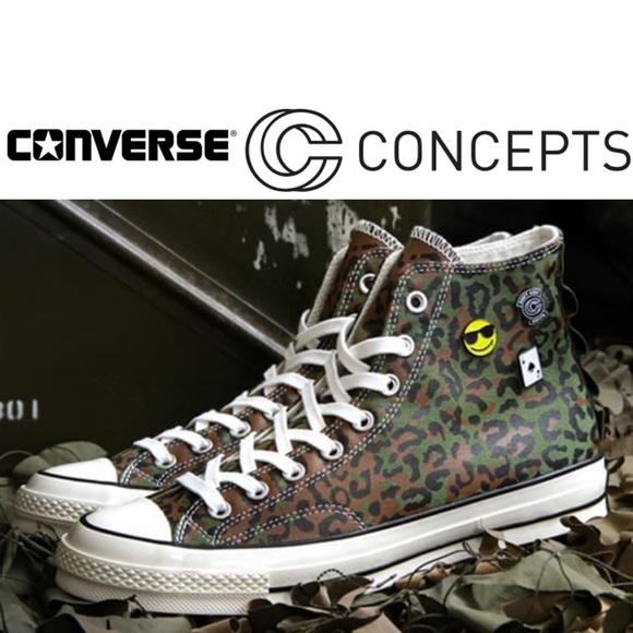 90b9b85acc3853 Concepts x Converse Zaire Leopard Camo Sneakers